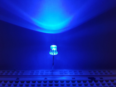 3mm Flat Top Blue Led Clear Ten Pack With Resistors For 12v