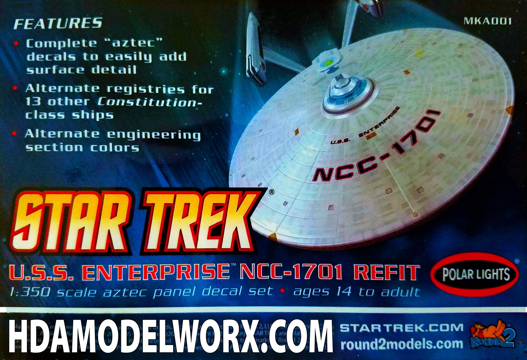 Star trek uss enterprise ncc refit 1 scale model - Aztec Alternate Name Registries Strongbacks Decal Set For The U S S Enterprise Ncc 1701 Refit 1 350 Scale Model Kit