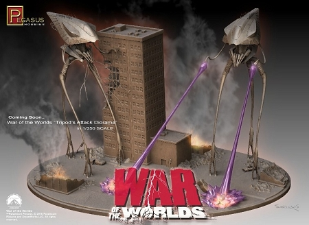 WAR OF THE WORLDS TRIPODS ATTACK Diorama Kit 1/350th scale Model Kit by  Pegasus Hobbies