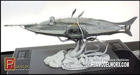 THE NAUTILUS 1:144 Scale Model Kit by Pegasus Hobbies