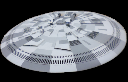 Light kit for the THING flying saucer from Fantastic Plastic by TENACONTROLS