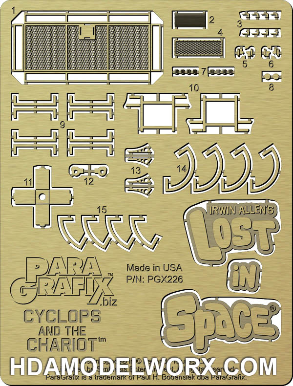 Chariot Photoetch Set 1/48 scale for the Doll and Hobby Model Kit by Paragrafix
