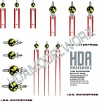 ISS ENTERPRISE D DECAL SET 1:2500 Scale for Cadet Series Model Kit