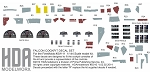 Falcon Cockpit Decal Set for the FineMolds 1/144 Scale model kit #SW-11