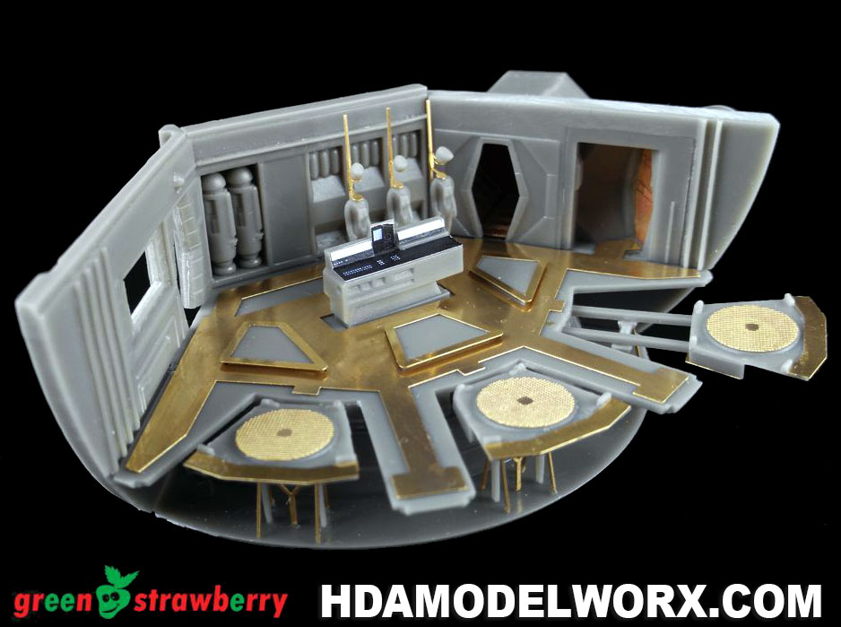 Discovery XD-1 HANGAR BAY Resin Details with photoetch and decals for the Moebius Model Kit by GREEN STRAWBERRY
