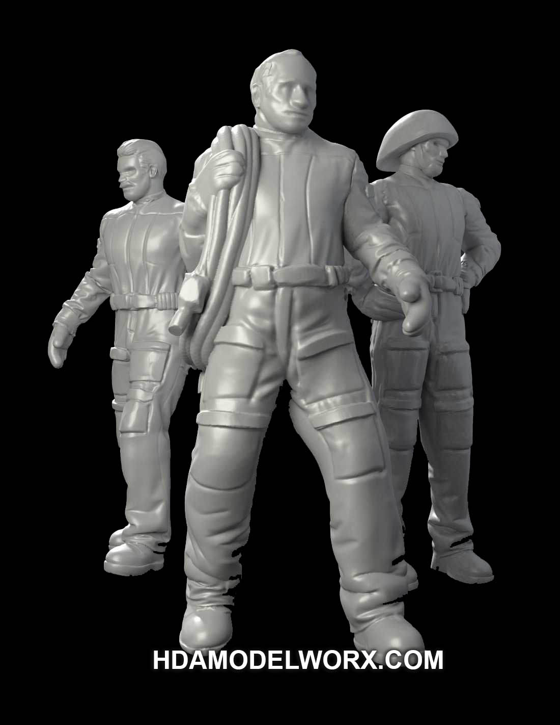 Hangar Crew Vol. VI 1:72 Scale Resin Figures Kit by GREEN STRAWBERRY