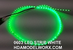 LED 0603 STRIP GREEN (72 LEDs) 0.5m 3-3.3vdc