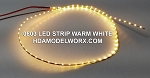 LED 0603 STRIP WARM WHITE (72 LEDs) 0.5m 3-3.3vdc