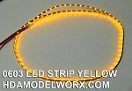 LED 0603 STRIP YELLOW (72 LEDs) 0.5m 1.8-2.2vdc UPDATED! Now with power connectors soldered at both ends!