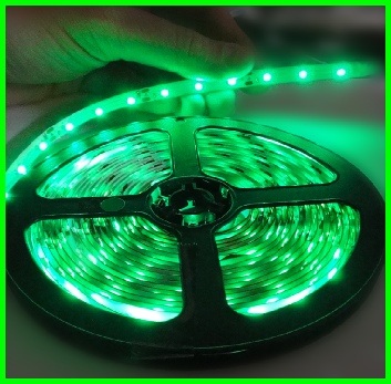 LED TAPE 3528 GREEN SINGLE DENSITY (300 LEDs) 5m