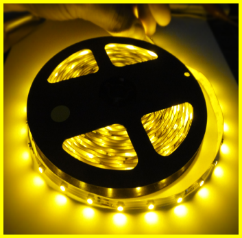 LED TAPE 3528 YELLOW SINGLE DENSITY (300 LEDs) 5m
