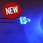 2mm Blue Round Top LED TEN Pack With Resistors for 12v