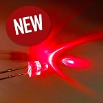 2mm Red Round Top LED TEN Pack With Resistors for 12v