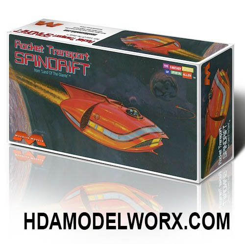 Mini Rocket Transport SPINDRIFT from Land of the Giants Model Kit by Moebius Models