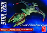 Star Trek The Next Generation Klingon VOR'CHA-Class Battle Cruiser 1:1400 Scale Model Kit by AMT