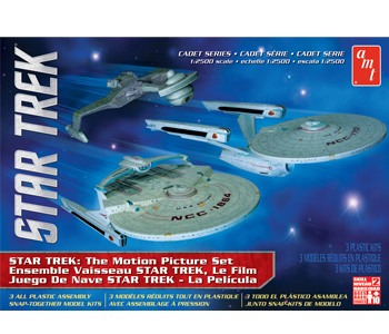 Star Trek:THE MOTION PICTURE ERA SET CADET SERIES USS Enterprise Refit, USS Reliant, Klingon K'Tinga 3 PEICE MODEL KIT 2500 SCALE