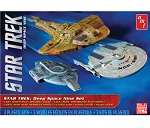 Star Trek: DEEP SPACE NINE SET CADET SERIES USS Defiant, USS Saratoga, Cardassian Galor Class Cruiser 3 PIECE MODEL KIT 2500 SCALE