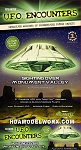 UFO Encounters Monument Valley UFO Glow in the Dark Edition Model Kit by Atlantis Models