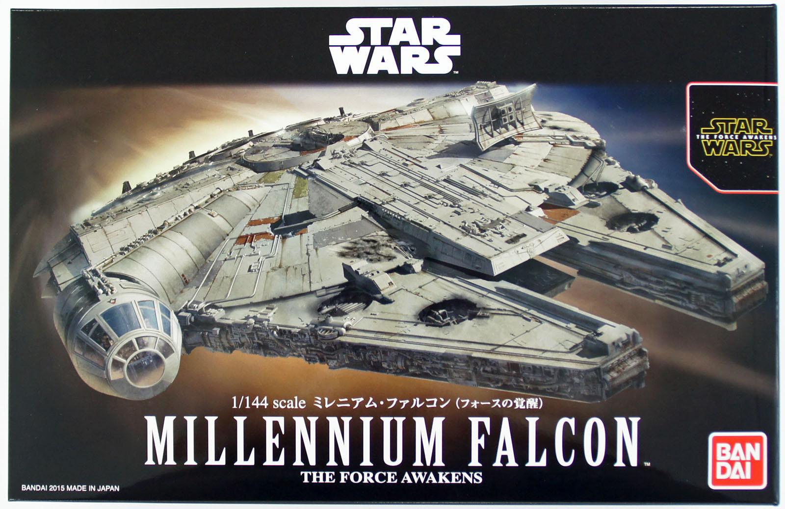 Star Wars Millennium Falcon 1:144 scale kit by BANDAI