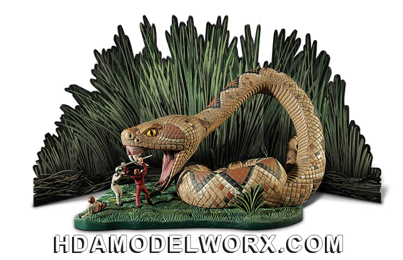 Land of the Giants Snake Diorama 1/48 Scale Model Kit by Doll & Hobby