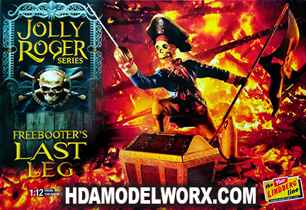 Jolly Roger Series:  Freebooter's Last Leg 1:12th SCALE Model Kit by Lindberg