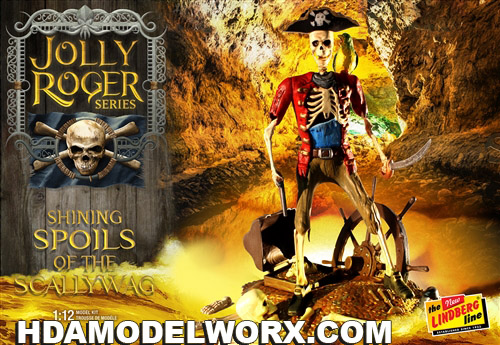Jolly Roger Series:  Shining Spoils of the Scallywag 1:12th SCALE Model Kit by Lindberg