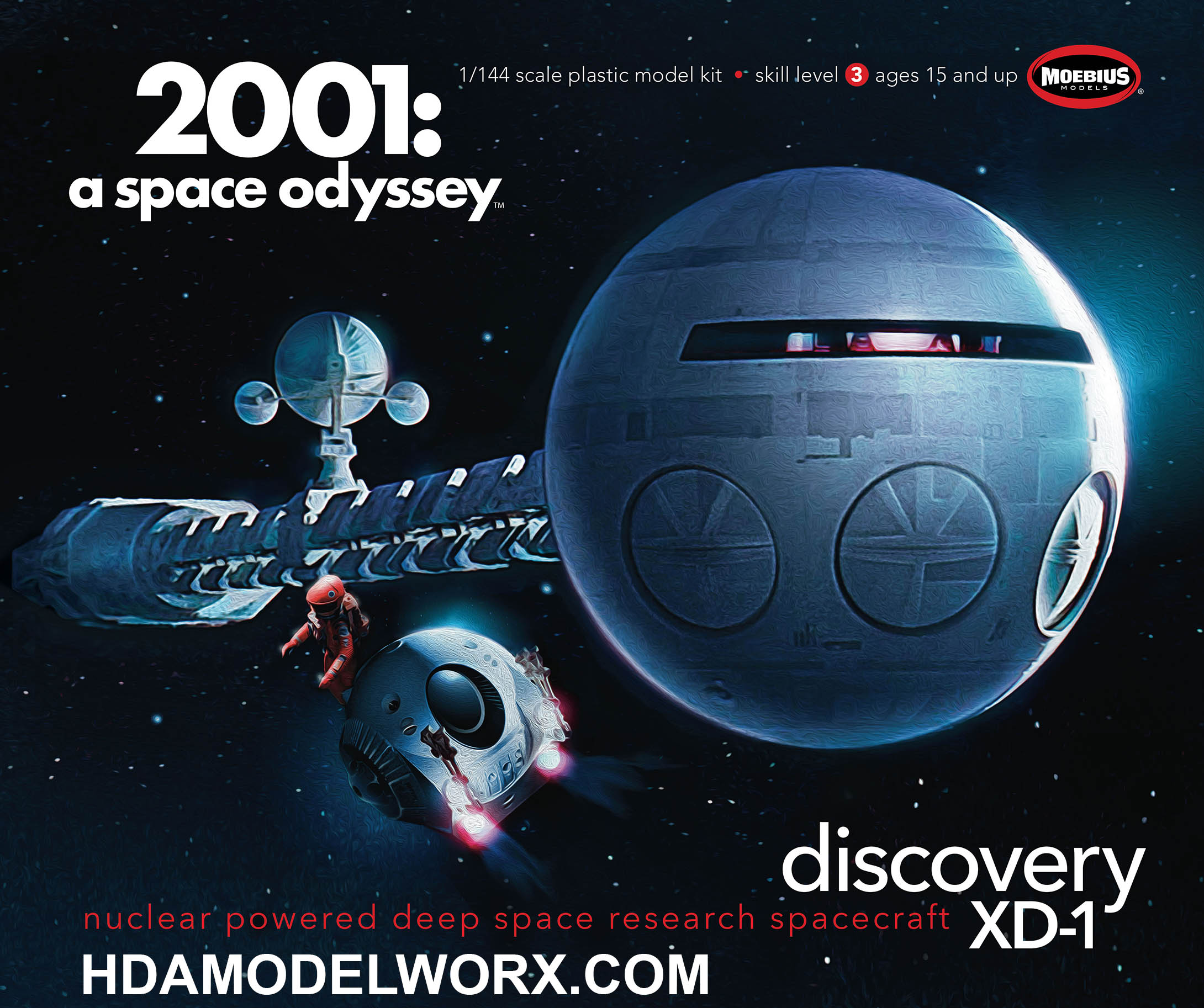 2001 Discovery 1/144 Scale Model Kit by Moebius Models.