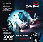 2001 2001 EVA Pod 1/8 Scale Model Kit by Moebius Models.