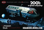 2001 Moon Bus 1/50 Scale Model Kit by Moebius Models