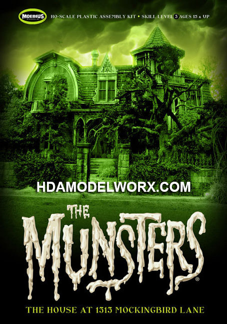 The Munsters: The House at 1313 Mockingbird Lane HO Scale Model Kit from Moebius Models
