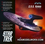 STAR TREK U.S.S. KELVIN 1:1000 SCALE MODEL KIT BY MOEBIUS MODELS