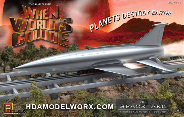 When Worlds Collide THE SPACE ARK 1/350 Scale Model Kit by Pegasus Hobbies