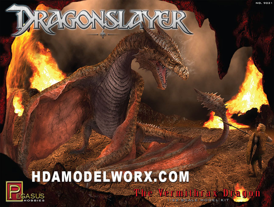 Dragonslayer The Vermithrax Dragon Model Kit 1/32th scale Model Kit by Pegasus Hobbies