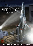 THE MERCURY 9 ROCKET 1/350 Scale Model Kit by Pegasus Hobbies