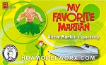 My Favorite Martian Uncle Martin & Spaceship 1:18 scale plastic model kit by Pegasus Hobbies