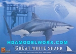 Great White Shark 1/18th scale Model Kit by Pegasus Hobbies