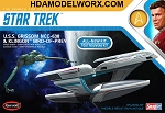 Star Trek USS GRISSOM and KLINGON BIRD OF PREY 1:1000 Scale Model Kit by Polar Lights