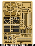 Photoetch set for the Bandai STAR WARS AT-AT Model Kit by GREEN STRAWBERRY