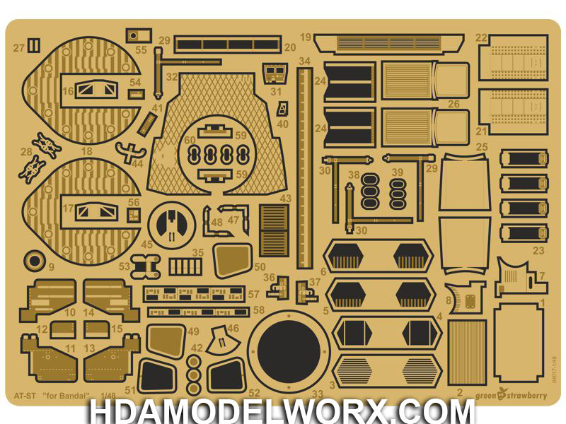 Photoetch set for the Bandai AT-ST model kit by GREEN STRAWBERRY
