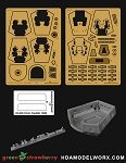 NX-326 U.S.S. Franklin Photoetch and Resin Detail Set for the Moebius Models 1:350 Scale Model Kit by GREEN STRAWBERRY