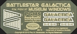 BATTLESTAR GALACTICA Museum Windows Photoetch Set by Paragrafix for Moebius Models kit 915