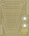 Original Series Cylon Raider Cockpit Louvers Photoetch Set by Paragrafix for Moebius Models kit 942