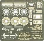 VIPER MK II Photoetch Set by Paragrafix for Moebius Models Kit 912