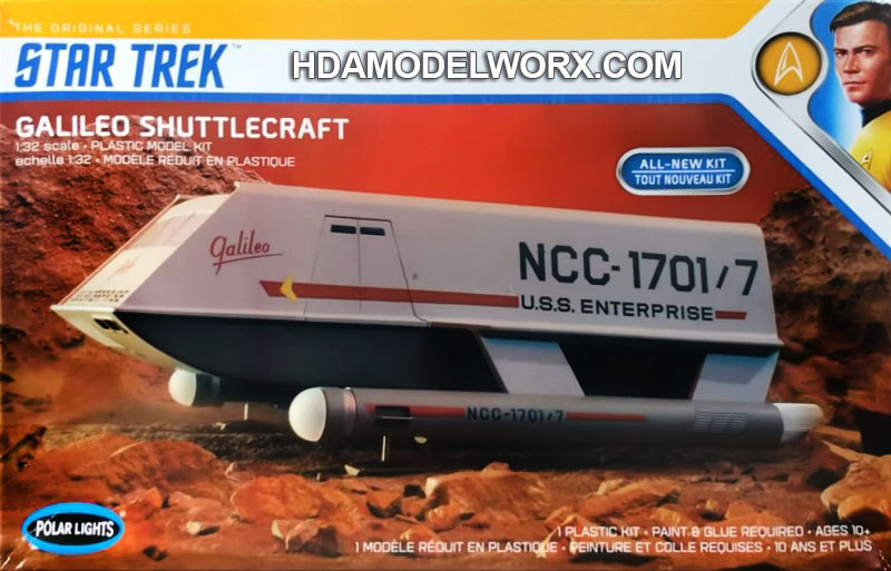 Star Trek GALILEO SHUTTLECRAFT 1:32 SCALE Model Kit by Polar Lights