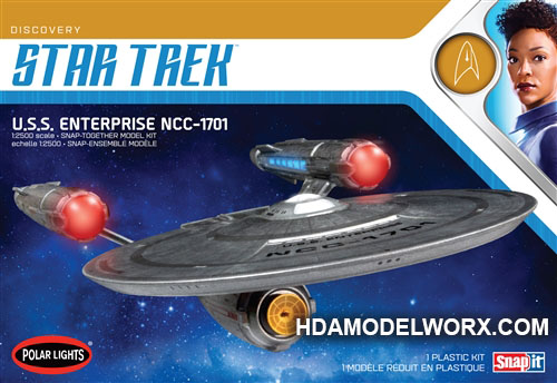 Star Trek USS ENTERPRISE from Discovery 1:2500 Scale Model Kit  by Polar Lights