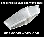 350 SCALE IMPULSE EXHAUST PORT REPLACEMENT PART by HDAMODELWORX