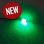 5 PACK 1206 SMD GREEN Pre-Wired with WIRES and RESISTOR FOR 12v