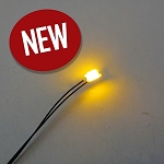 5 PACK 1206 SMD YELLOW Pre-Wired with WIRES and RESISTOR FOR 12v