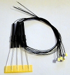 5 PACK 3020 SMD WHITE Pre-Wired with LEAD WIRES and RESISTOR