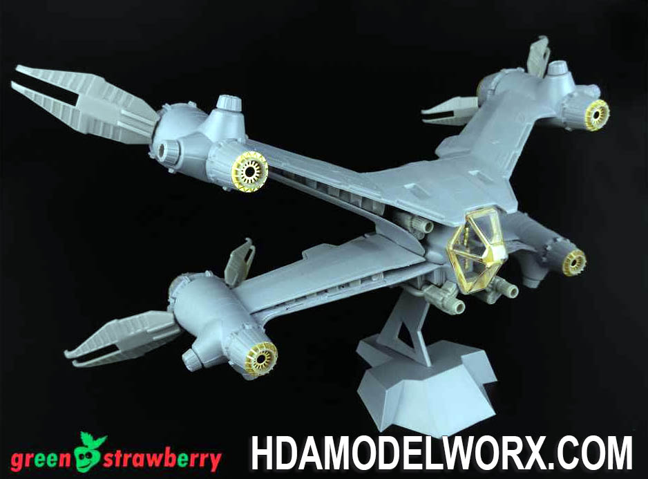 FRUITPACK Babylon 5 STARFURY MK. I - COMES COMPLETE WITH BOTH Starfury Mk.I 08719 and 08819 Photo etch and Resin Details for the Revell Model Kit by GREEN STRAWBERRY